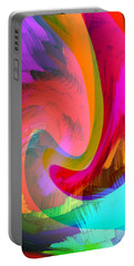 Original Fine Art Digital Abstract Warp10c Scaled Red. Portable Battery Charger