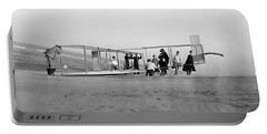 Orville Wright Preparing Glider For Flight - 1911 Portable Battery Charger