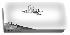 Orville Wright Tests His Glider At Kitty Hawk, Nc Portable Battery Charger