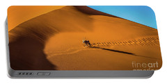 Oryx Crossing Big Daddy Dune, Sossusvlei, Namibia Portable Battery Charger