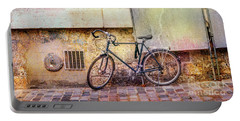 Portable Battery Charger featuring the photograph Ostrad Bicycle by Craig J Satterlee