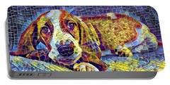 Otis The Potus Basset Hound Dog Art  Portable Battery Charger