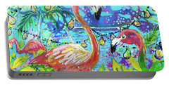 Outdoor Flamingo Party Portable Battery Charger