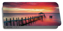 Outer Banks North Carolina Sunset Seascape Photography Duck Nc Portable Battery Charger
