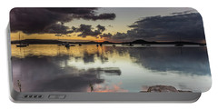 Overcast Waterscape With Hints Of Colour Portable Battery Charger