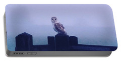 Owl In The Mist Portable Battery Charger