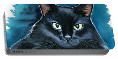 Ozzy Black Cat Painting Portable Battery Charger