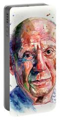 Pablo Picasso Portrait Portable Battery Charger