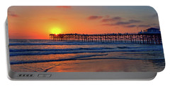 Pacific Beach Pier Sunset Portable Battery Charger