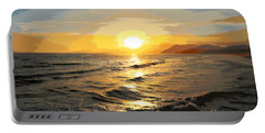 Pacific Sunset Impressionism, Santa Monica, California Portable Battery Charger