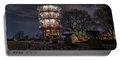 Portable Battery Charger featuring the photograph Pagoda And The Canons by Mark Dodd