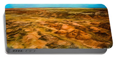 Portable Battery Charger featuring the photograph Painted Desert Far View by Jon Burch Photography