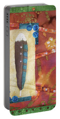 Painted Feather Portable Battery Charger