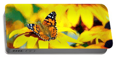 Painted Lady Butterfly Van Gogh Portable Battery Charger