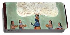 Painting Fresco Of Krishna In The Women's Zenana Portable Battery Charger