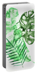 Palm Leaves-banana, Coconut, Monstera Portable Battery Charger
