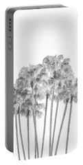 Palm Tree Grove In Black And White Portable Battery Charger