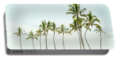 Palm Tree Horizon In Color Portable Battery Charger