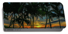 Palm Tree Lagoon Sunrise Portable Battery Charger