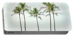 Palm Trees On The Beach Portable Battery Charger