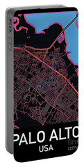 Palo Alto City Map Portable Battery Charger