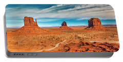 Portable Battery Charger featuring the photograph Panoramic Monument Valley by Andy Crawford