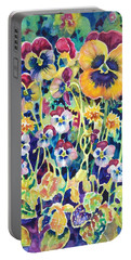 Pansies And Violas Portable Battery Charger