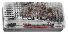 Paris Red Houseboat Portable Battery Charger