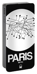 Paris White Subway Map Portable Battery Charger