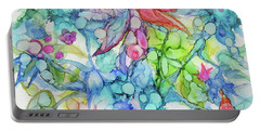 Pastel Flowers - Alcohol Ink Portable Battery Charger