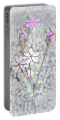 Portable Battery Charger featuring the photograph Pastel Paper Daisies by Elaine Teague