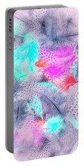 Pastel Plumes Portable Battery Charger
