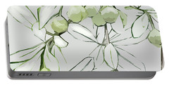 Portable Battery Charger featuring the digital art Patio Print by Gina Harrison