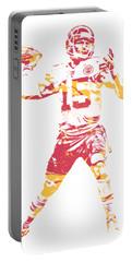Patrick Mahomes Kansas City Chiefs Apparel T Shirt Pixel Art 1 Portable Battery Charger