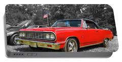 Patriotic 64 Chevy Chevelle Portable Battery Charger
