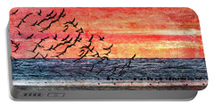 Patriotic Sunrise Portable Battery Charger