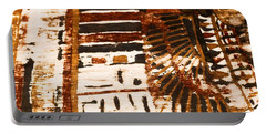 Portable Battery Charger featuring the tapestry - textile Pattern From The Past by Sue Harper