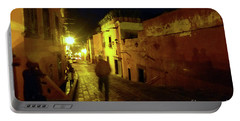 Portable Battery Charger featuring the photograph Patzcuaro Street by Rosanne Licciardi