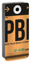 Pbi West Palm Beach Luggage Tag I Portable Battery Charger