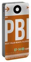 Pbi West Palm Beach Luggage Tag II Portable Battery Charger