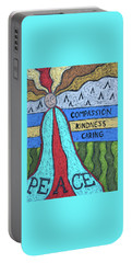 Peace Compassion Kindness Caring Portable Battery Charger