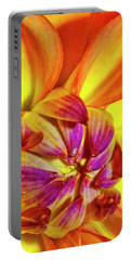 Peach Purple Flower Portable Battery Charger