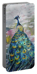 Peacock In Dappled Light Portable Battery Charger