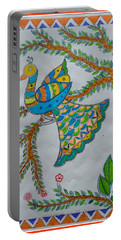 Peacock In Madhubani Portable Battery Charger