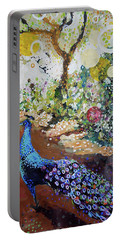Peacock On Path Portable Battery Charger