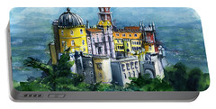 Pena National Palace In Sintra Portugal Portable Battery Charger