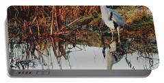 Pensive Heron Portable Battery Charger