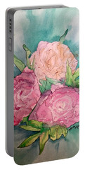 Peonie Roses Portable Battery Charger