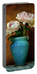 Peonies In Spring Portable Battery Charger