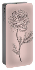 Peony Blush Pink Flower Portable Battery Charger